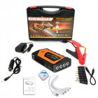 12v Car Jump Starter Emergency Starting Power For Car Portable Power Source Power Bank Orange toolbox set_JX28 18000mAh