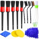 13pcs Detailing  Brush Set For Auto Detailing Cleaning Car Motorcycle Interior, Exterior,leather, Air Vents 13 piece set