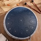 14-inch 15-tone Steel Tongue Drum B-grade Carbon Steel Color Hollow Drum Percussion Instrument For Adult And Child [C tone gold shield model] carbon steel-navy blue