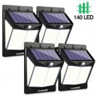 140LEDs Motion Sensor Lamp Outdoors Solar Garden Wall Lights Emergency Security Light White