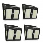 146LEDs Solar Light 4 Sides Waterproof Light Control+Human Body Induction Garden Lamp  White light_English version