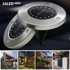 16 LED Solar-powered Stainless Steel Buried Light Under Ground Lamp Outdoor Path Way Garden Decoration white light
