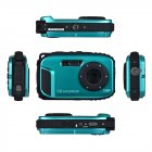 16MP 2 7   HD LCD Waterproof Digital Video Camera DVR Camcorder 8X ZOOM blue