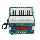 17 Key Professional Mini Accordion Educational Musical Instrument for Both Kids Adult  green
