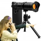 18-30X Zoom HD Mobile Phone Zoom Lens Dual Focus No Black Edge Telephoto Telescope Mobile Phone Lens black