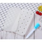 18 Grids Ice Cream Mold Silica Gel Ice Box Kitchen Bar Homemade Ice Hockey Ball Moulds 22mm water drop white + dropper