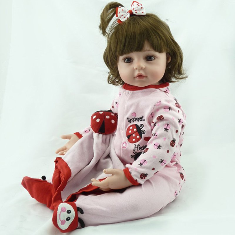 19Inches Soft Silicone Reborn Baby Dolls Toy for Christmas Kids Girls Supplies