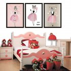 1PC/3PCS Lovely Girl Watercolour Canvas Painting Without Frame Poster Mural Wall Sticker Room Decoration Hanging Painting 21x30cm_3pcs