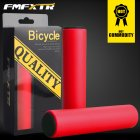 1Pair Bicycle Handlebar Grips Cover Outdoor MTB Mountain Bike Cycling Bicycle Silicone Anti-slip Handlebar Soft Grips Red