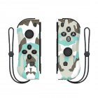 1pair Wireless Bluetooth Game Handle Joy Cons Gaming Controller Gamepad For Nintend Switch NS Joycon Console with Wrist Strap Camouflage