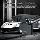 2.0 LCD Screen High Definition Car DVR Driving Recorder Radar Detector Two in One Car Speedometer black