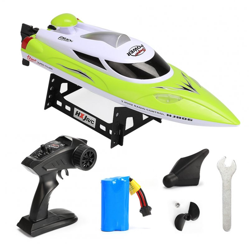 2.4G High Speed Reaches 35km/h Boat Fast Ship with Remote Control and Cooling Water System green