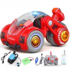 2 4G RC Stunt Car Dual Remote Control Gesture Sensing Spray Drift Car Model Toy for Kids red
