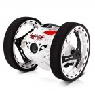 2.4GHz Wireless Remote Control Jumping RC Toy Car Bounce Car for Kids Boys Christmas Birthday Gift  White