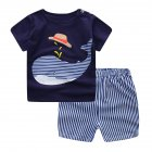 2 Pcs Baby Kids Clothes Set T-shirt + Shorts