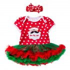 2 Pcs/set Baby Cartoon Short-sleeve Net-yarn Dress + Headdress for 0-2 Years Old 1_80