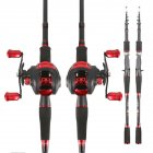 2 Pcs/set Fishing Gear Supplies Low-profile Reel + Carbon 2.1m Rod