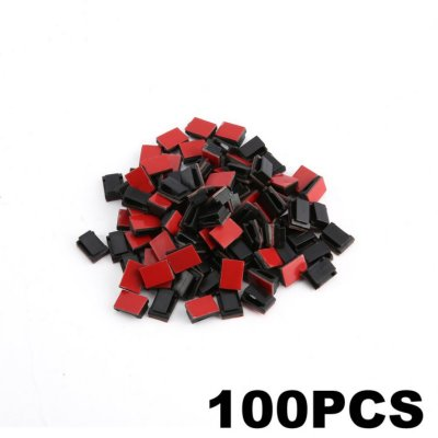 20/50/100pcs Car Drop Adhesive Cable Cord Holder Wire Clamp Management Clips  100 pcs