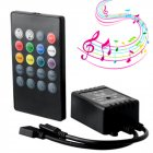 20 Keys Infrared Music Light Strip Controller Remote Control for Home Party black_LXD-YY-01
