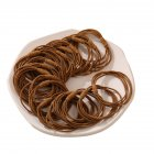 20 Piece Set Girl's Rubber Band Ins Simple Rope Tie Hair High Elastic Ring Headdress brown