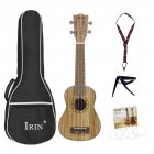 21/24/26inch Travel Ukulele Zebra Wood Tenor Thin Body Hawaii Guitar Musical Instrument for Ukulele Starter Kids Student and Adult  21inch_Zebra