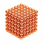 216PCS Puzzle Cube 3mm Magnetic Ball Decompression Toy DIY Toy Orange