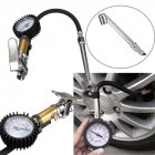 220 PSI Tire Tyre Inflator Pressure Gauge Measurement Motorbike Trucks 1500