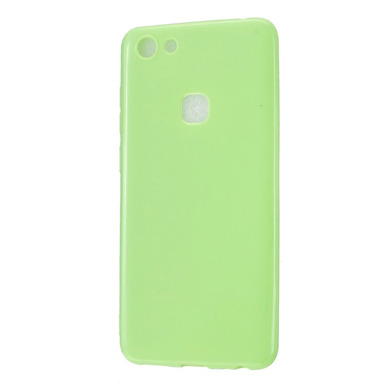 For VIVO Y75/Y79 Cellphone Case Glossy TPU Phone Shell Smartphone Soft Cover Heavy Duty Protection Fluorescent green