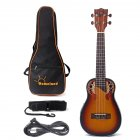 23 Inch Ukulele Rosewood  Round Back Ukulele With Built-In EQ Bracket