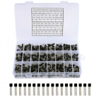24 Value 840Pcs Transistor TO-92 Assortment NPN PNP DIY Kit 2N2222-S9018 / BC327(Box Packing) TO-92