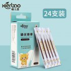 24pcs/lot Medical Disposable Emergency Cotton Stick Iodine Swab Disinfected Swab for Children Adults 24 sticks / box
