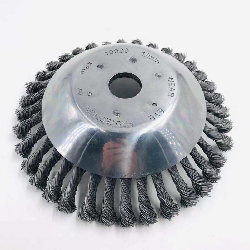 25MM Aperture 8 Inches Steel Wire Weeding Brush Twisted Wire Bowl Type Rotating Wire Wheel Steel wire raking wheel 8 inch