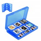 28-in-1 Game Card Case Holder for Nintend 3DS XL / 3DS / DS Lite Cartridge Box  blue
