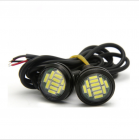 2pcs DC 12V 18W High Power Eagle Eye Light Daytime Running DRL Backup Light Car Auto Lamp White light
