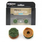 2pcs FPS Thumbstick Cover Caps Battle Royale Thumb Grip for PS4 Slim Pro Controller green
