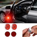 2pcs/Set Led Car Door Anti-collision Warning Light 3LED No Wiring Flash Lamp red