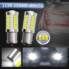 2pcs/set Car Light 1156-33smd-5730 Lens Brake Light Turn Signal Indoor Reading Light White light