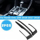 2pcs/set Carbon Fiber Gear Shift Frame Cover Trim For Honda Civic 10th 2016 2017 2018 Carbon fiber
