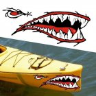 2pcs / set Fashion Waterproof Shark Teeth Mouth PVC Sticker Decals for Canoe Boat Dinghy