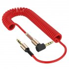 3.5 Spring Recording Line 3.5mm Audio Elbow Recording Cable Male To Male Telescopic Car Audio Line red