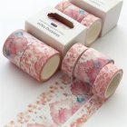 3 Rolls Decorative Tapes for DIY Craft Wrapping Scrapbook Decoration Big box