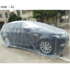 Outdoor Clear Disposable Full Car Cover