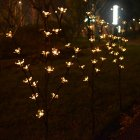 3 in 1 Solar Lamp Cherry Tree Shape LED Decoration Garden Lawn Light warm light