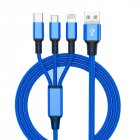 3 in 1 USB Cable blue