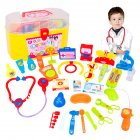 30 Pcs Doctor Nurse Medical Kit Children Role playing Doctor Toy Suit with Carrying Case for Boys and Girls