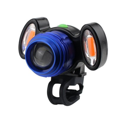 3000 Lumen USB Interface LED Bicycle Light Headlamp Bike Headlight 3 Mode Mountain Bike Road Bicycle Front Light blue