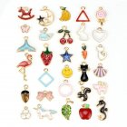 30Pcs DIY Alloy Hanging Pendant for Jewellery Crafts Bracelet Necklace Earrings Accessaries colorful