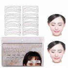 32 Pcs Set Fashion Eyebrow Template Stickers Makeup Eyebrow Stencils Drawing Card