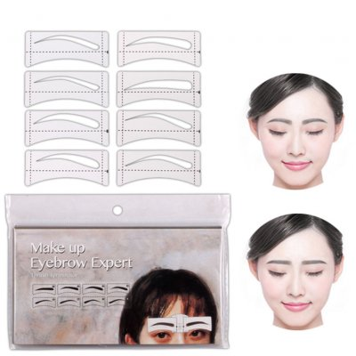 32 Pcs/Set Eyebrow Template Stickers
