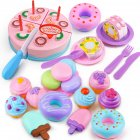 32Pcs/Set Simulate Cake + Dessert + Macarons + Doughnut + Ice Cream Play House Toy [32 sets]